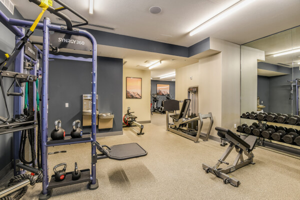 fitness center at Infinity LoHi Apartments