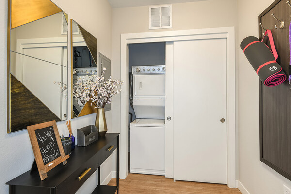 laundry room at Infinity LoHi Apartments