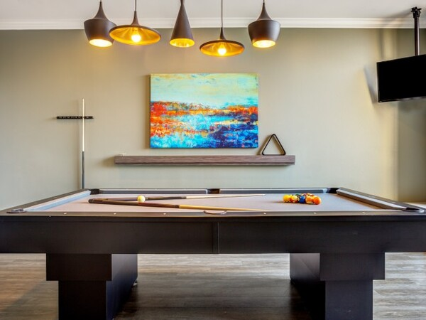 game room at Apex Apartments