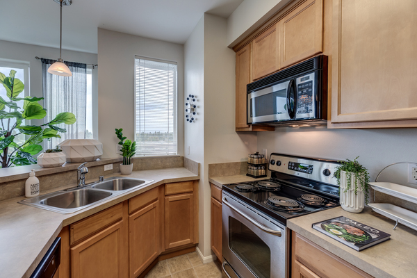 kitchen at Apex Apartments