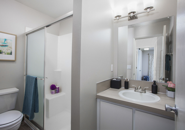 bathroom at Garden Park Apartments