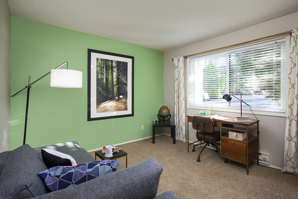 living room/office at Garden Park Apartments