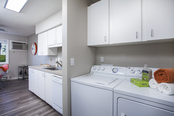 laundry room at Garden Park Apartments
