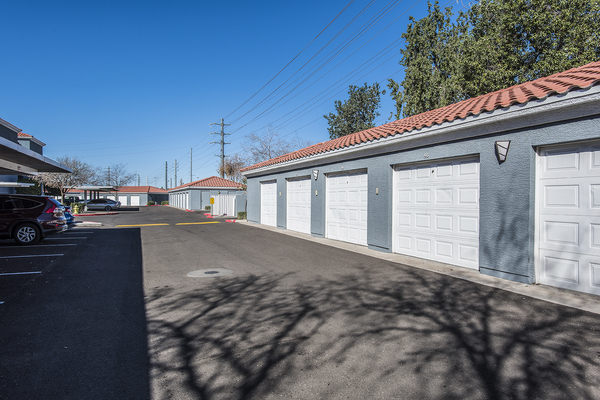 private garage at San Valiente Apartments