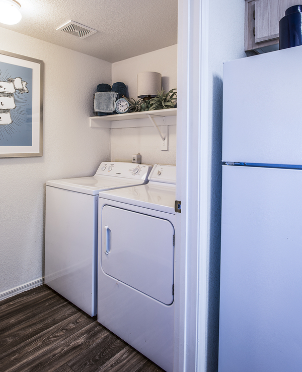 laundry room at San Valiente Apartments