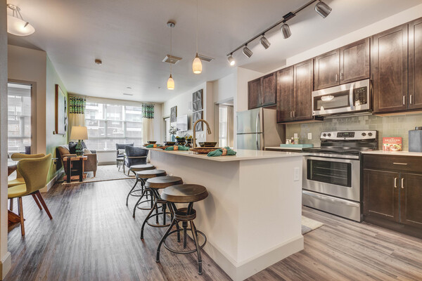 kitchen at Gateway 505 Apartments