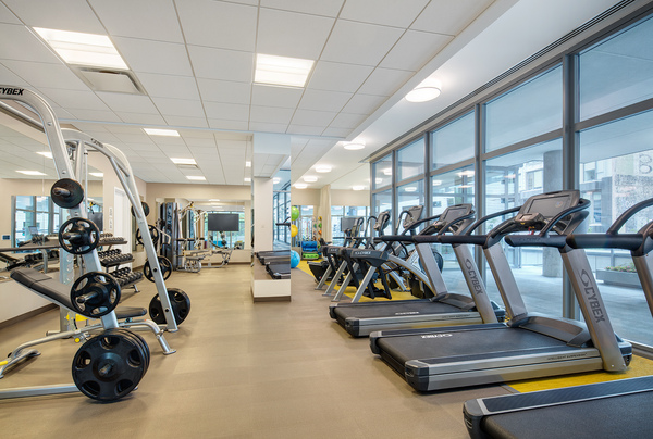 fitness center at 30 East Apartments
