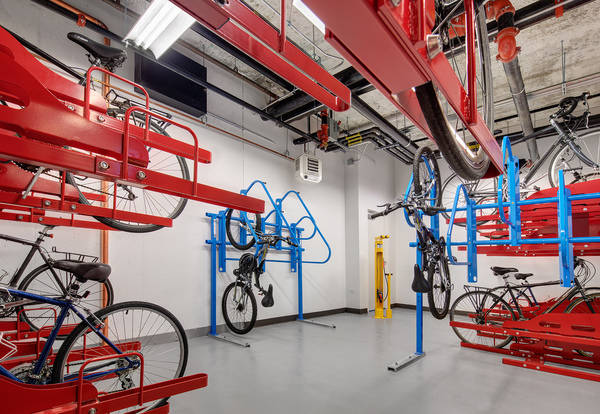 bike storage at 30 East Apartments