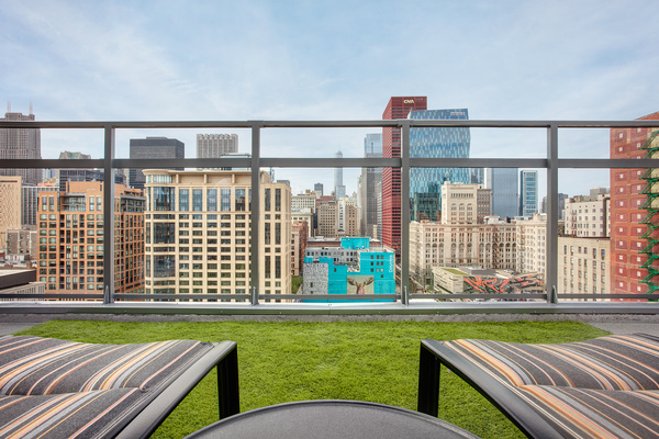 rooftop deck at 30 East Apartments