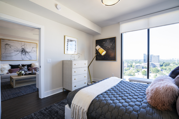 bedroom at Ascent Midtown Apartments