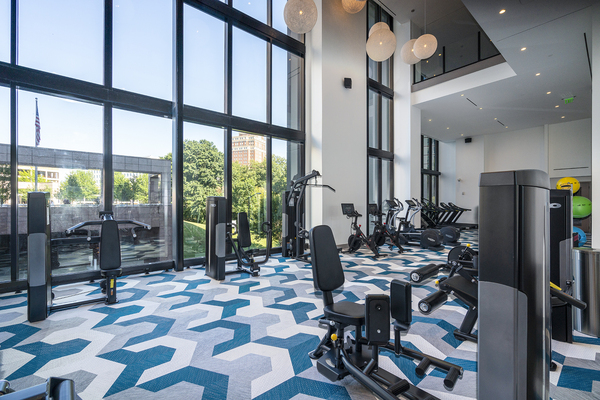 fitness center at Ascent Midtown Apartments