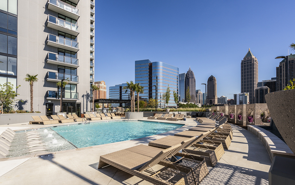 pool at Ascent Midtown Apartments