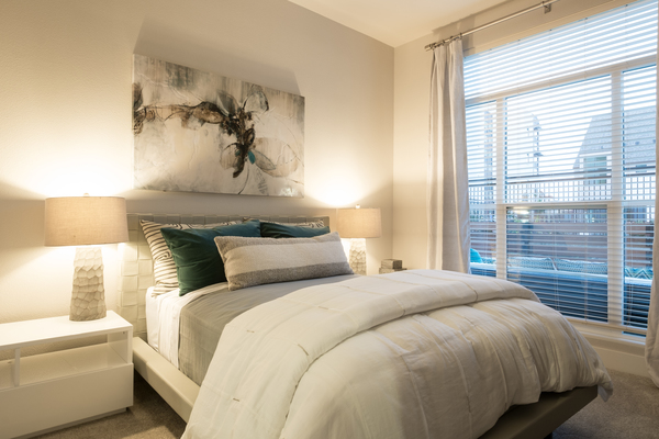 bedroom at Field House at Bay Meadows Apartments