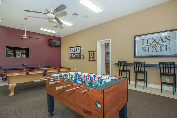 game room at The Heights