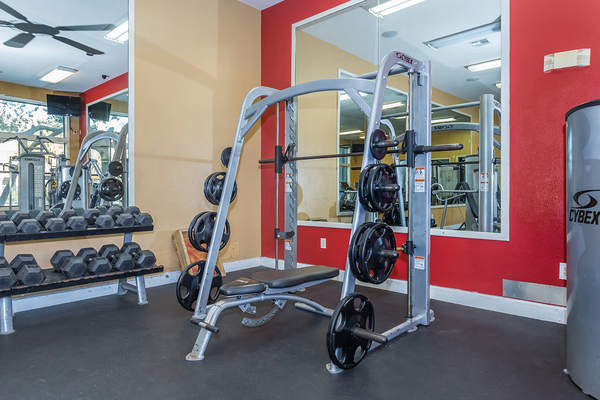 fitness center at The Heights