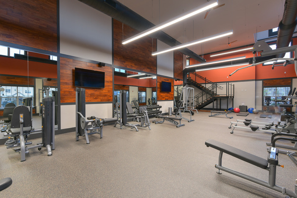 fitness center at The Retreat at Corvallis Apartments