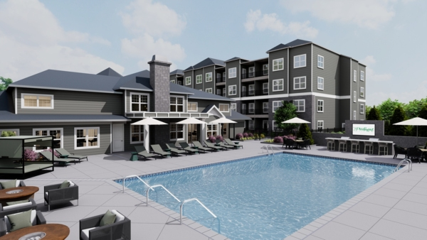 rendering at The Piedmont Raleigh Apartments
