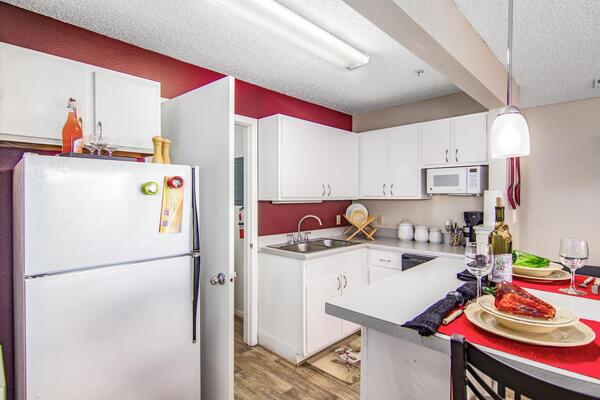 kitchen at The Trails at Wolf Pen Apartments