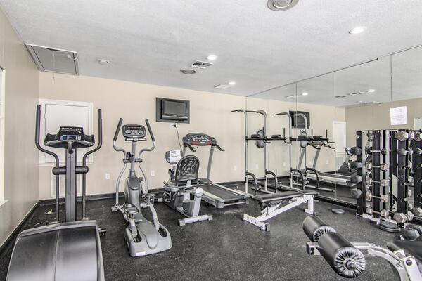 fitness center at The Ridge Apartments