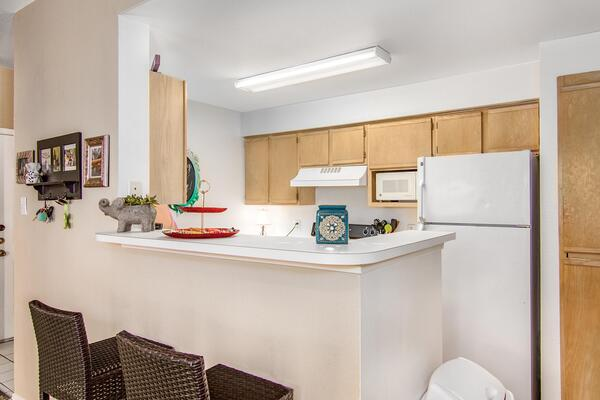 kitchen at The Ridge Apartments