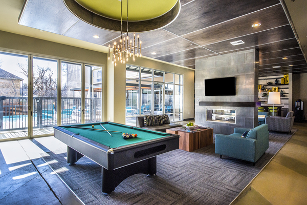 game room at 33 North Apartments - Student Living Apartments
