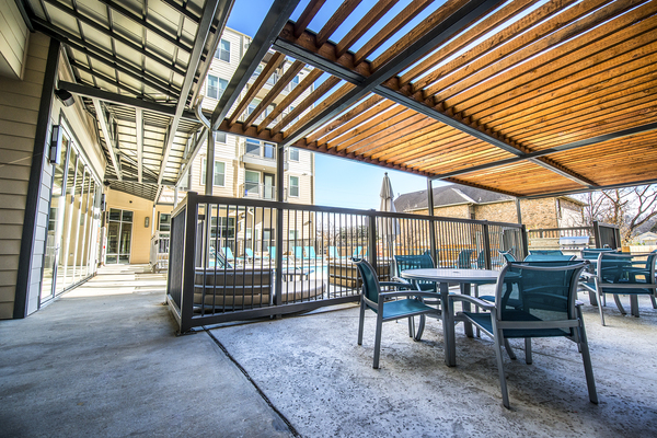 pool patio at 33 North Apartments - Student Living Apartments