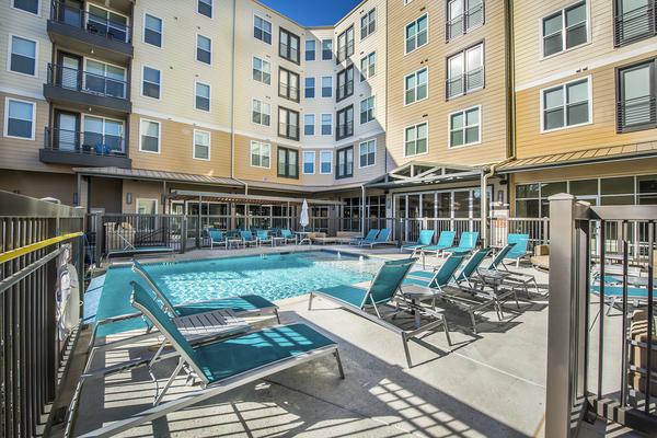 pool at 33 North Apartments - Student Living Apartments