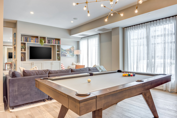 game room at The Marke of Elmhurst Apartments