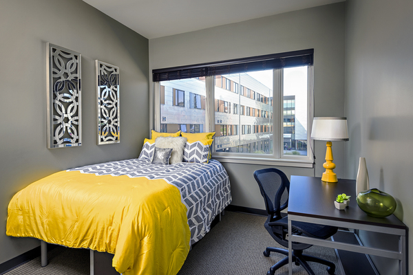 bedroom at Campus West Apartments