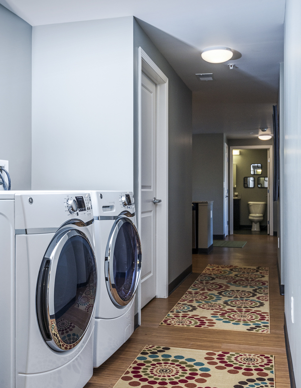 laundry room at Campus West Apartments