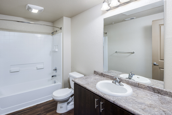 bathroom at Carriage House Apartments