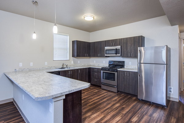 kitchen at Carriage House Apartments
