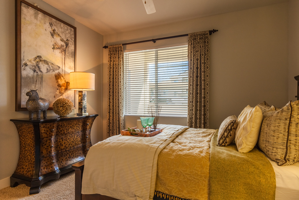 bedroom at SkyStone Apartments