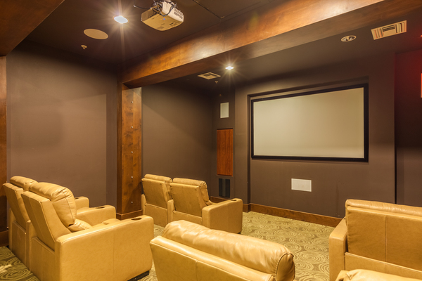 theater at SkyStone Apartments