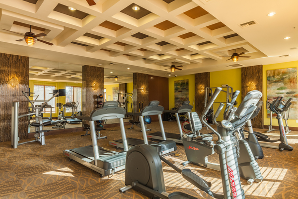 fitness center at SkyStone Apartments