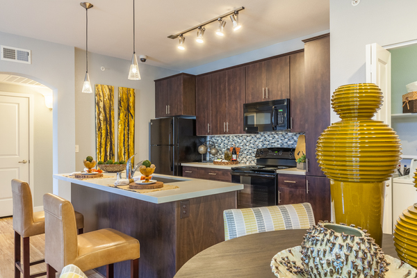 kitchen at SkyStone Apartments