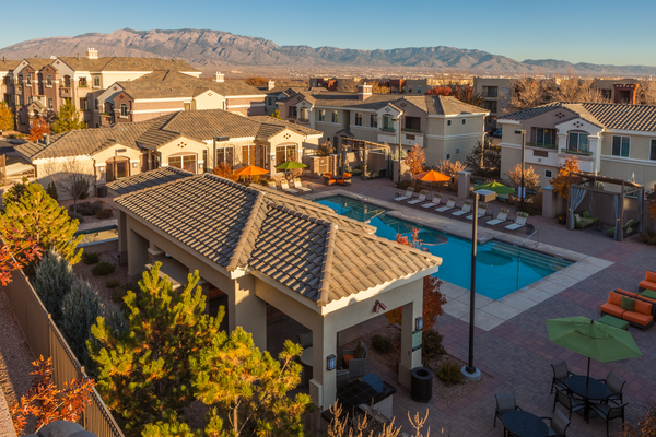 pool at SkyStone Apartments
