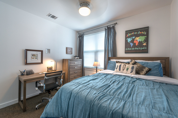 bedroom at College Town Student Apartments