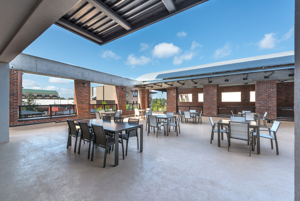 patio area at College Town Student Apartments