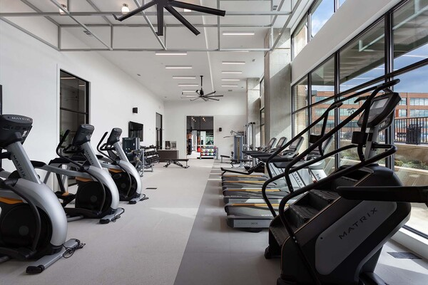 fitness center at Elan Halcyon Apartments