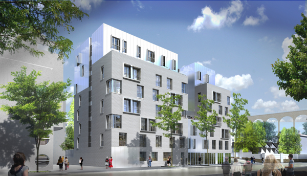 rendering of Student Village Arcueil Apartments