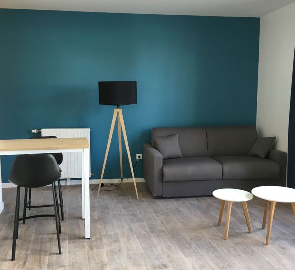 living room at Student Village Bagneux Apartments