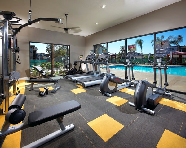 fitness center at Artisan at East Village Apartments