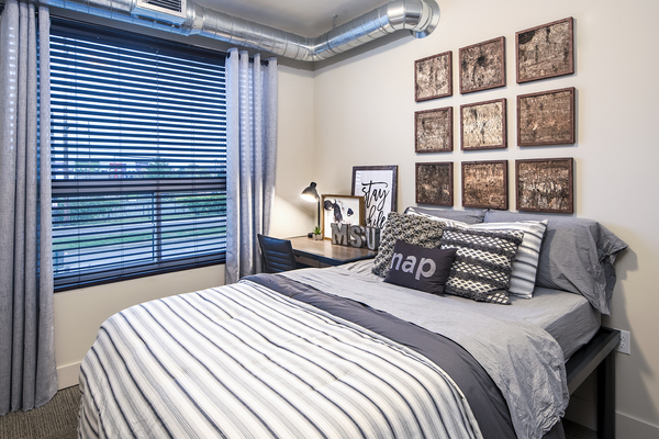 bedroom at SkyVue Apartments