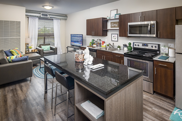 kitchen at SkyVue Apartments