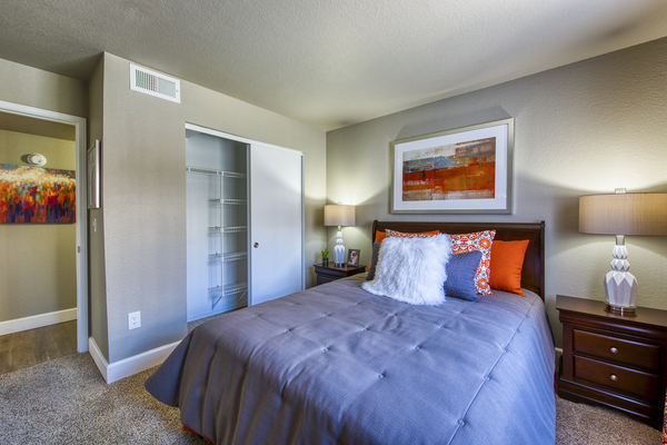 bedroom at Allure at Tempe Apartments
