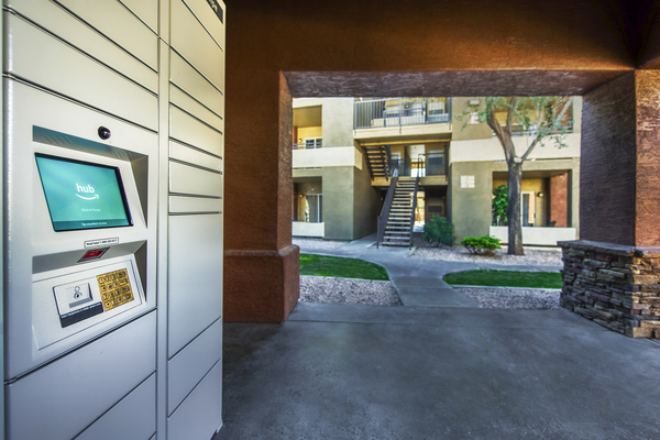 clubhouse parcel pickup at Allure at Tempe Apartments