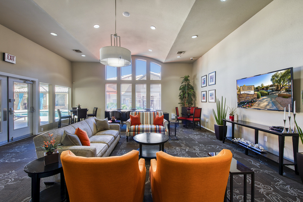 clubhouse/lobby at Allure at Tempe Apartments