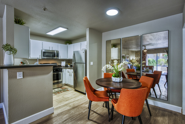 dining room at Allure at Tempe Apartments