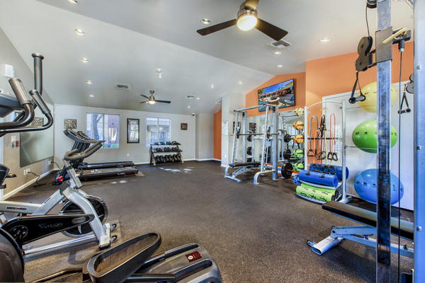 fitness center at Allure at Tempe Apartments
